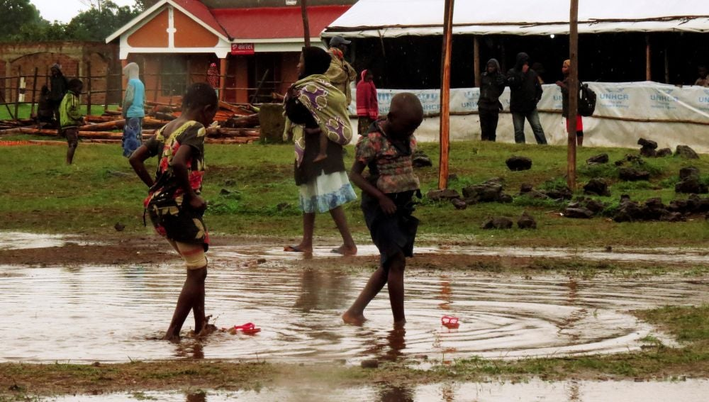 Fotografía tomada en febrero en el centro de refugiados de Nyakabande