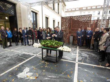 El lehendakari, Iñigo Urkullu, y la presidenta del Parlamento Vasco, Bakartxo Tejeria