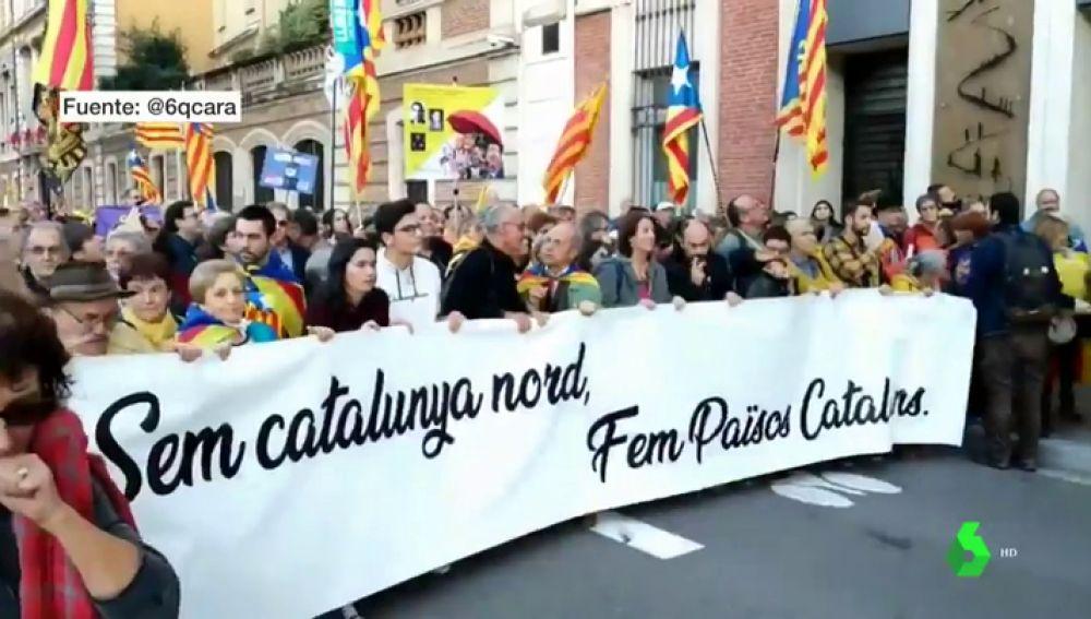 Manifestación independentista en Perpiña
