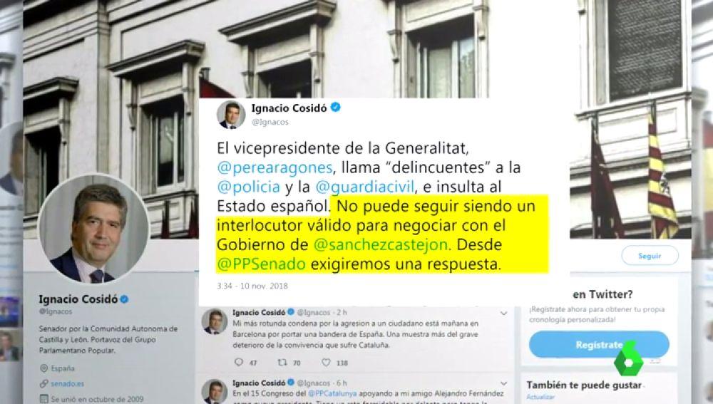 """Pere Aragonès califica de """"delincuentes"""" a las fuerzas de seguridad que actuaron en el 1-O en respuesta a los policías que le llamaron """"mezquino"""" e """"indecente"""""""