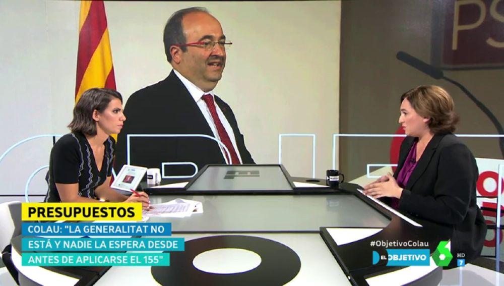 """Ada Colau, sobre el apoyo a los Presupuestos: """"Interpelo a la responsabilidad de la Generalitat porque la clase trabajadora no tiene la culpa"""""""