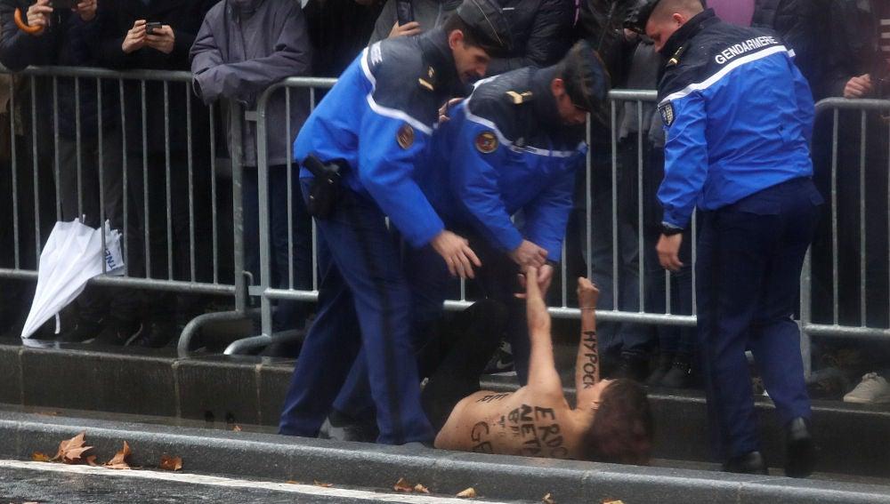 Activista de Femen detenida