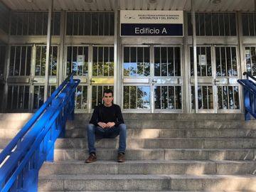 David García, un ourensano de 23 años estudiante del segundo curso del Máster Universitario en Ingeniería Aeronáutica