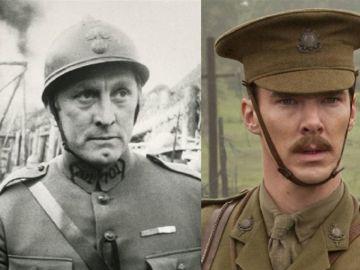 El actor Kirk Douglas en 'Senderos de Gloria' y Benedict Cumberbatch en 'Caballo de Batalla'
