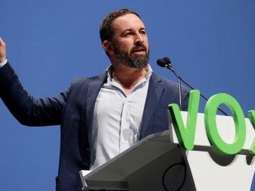 Santiago Abascal en un acto de VOX en Sevilla
