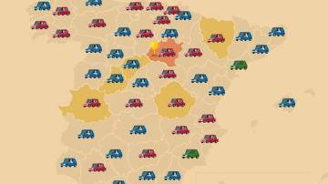 Infografía sobre accidentes de tráfico