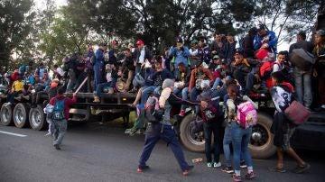La caravana de migrantes que se dirige a EEUU