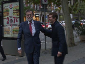 Mariano Rajoy y Pablo Casado
