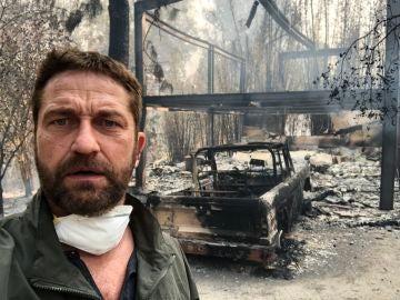 Gerard Butler muestra su casa calcinada