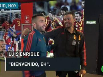 Así fue el esperado reencuentro entre Alba y Luis Enrique