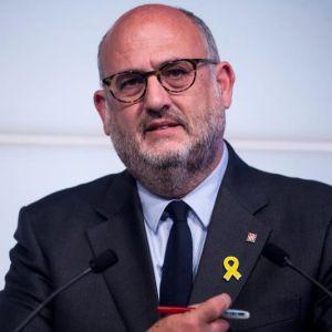 El portavoz adjunto del grupo parlamentario de Junts per Catalunya, Eduard Pujol