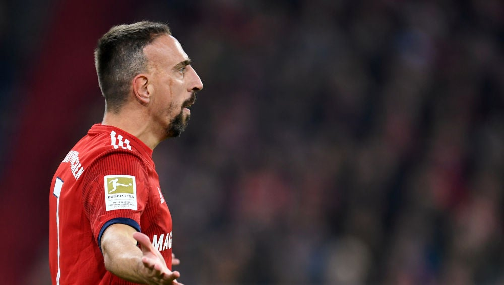 Ribery, durante un partido del Bayern