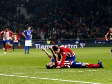 Godín tras marcar lesionado ante el Athletic