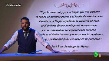 """La reacción de Dani Mateo al polémico poema compartido por García Egea: """"Puede que os haya chirriado lo de 'rezar el Padre Nuestro, sois muy rojillos'"""
