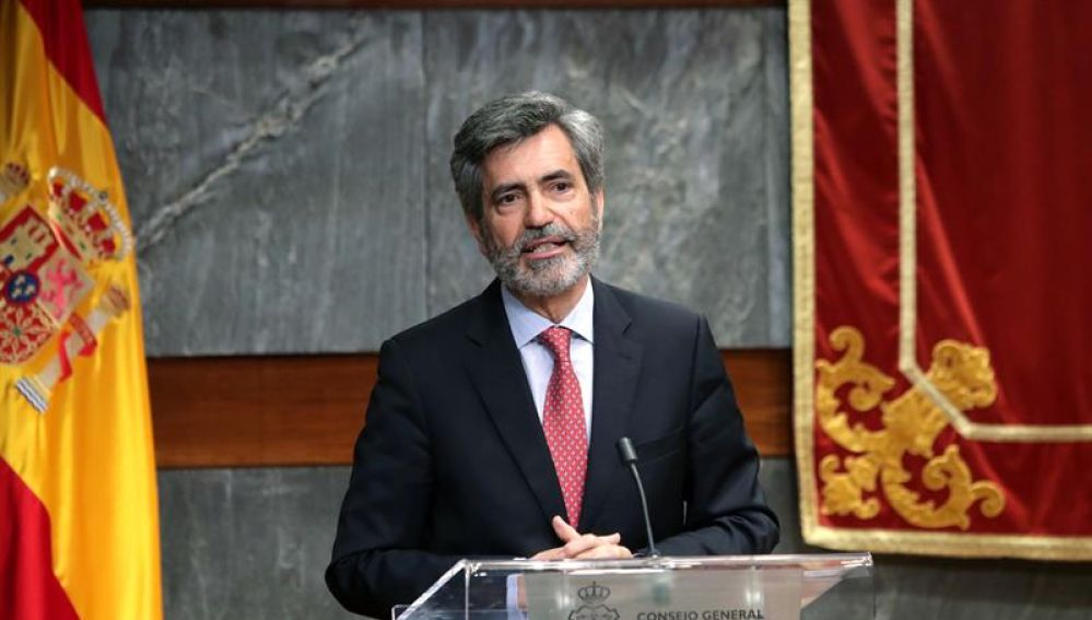El presidente del Consejo General del Poder Judicial (CGPJ), Carlos Lesmes
