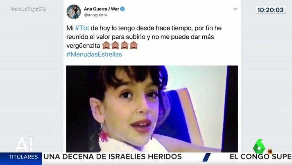El adorable vídeo de una pequeña Ana Guerra participando en 'Menudas Estrellas'
