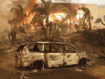Efectos provocados por el incendio de California