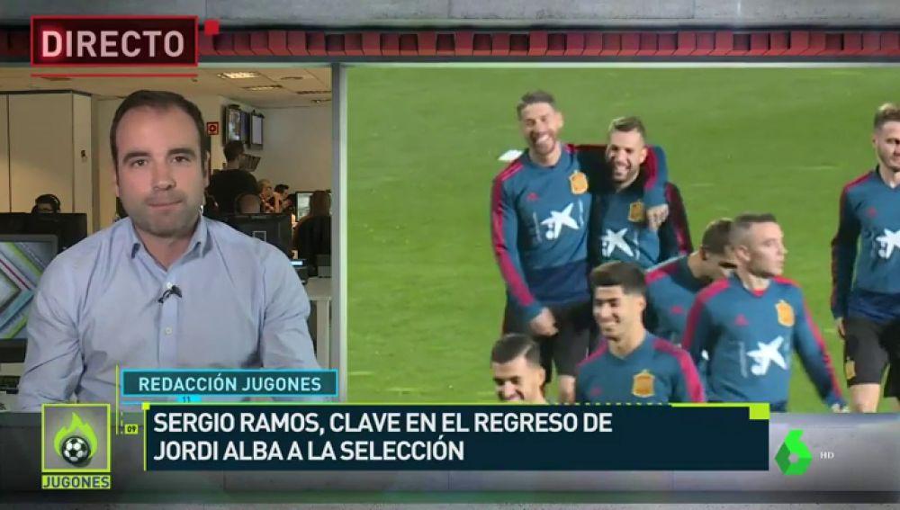 Sergio Ramos recomendó a Luis Enrique la vuelta de Jordi Alba