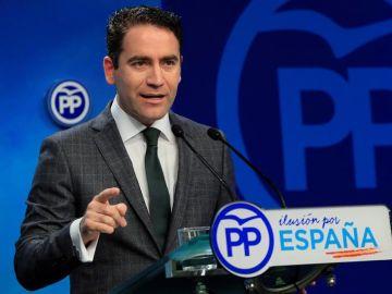 El secretario general del PP, Teodoro García Egea