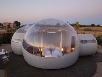 Dormir en una burbuja con vistas al firmamento