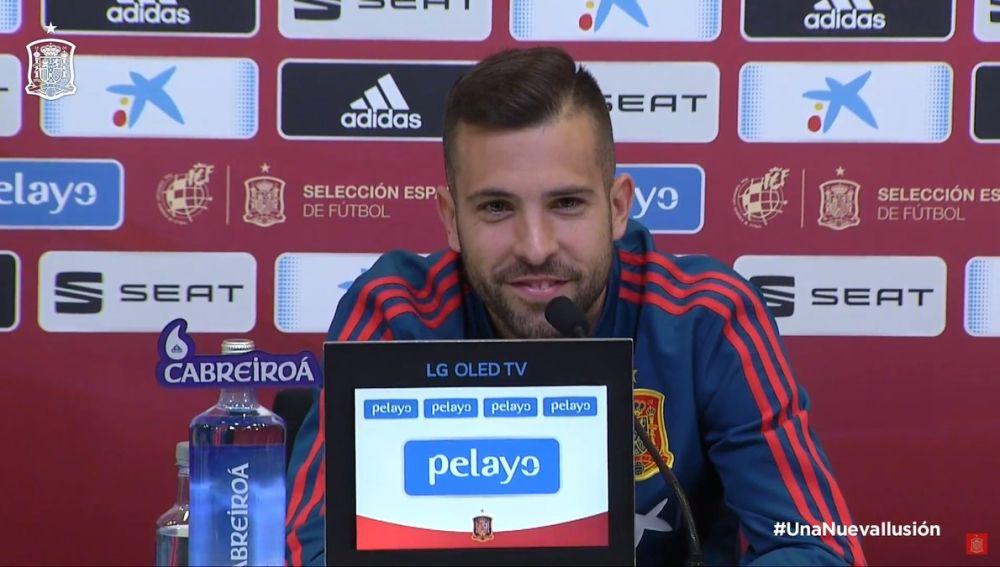Jordi Alba comparece ante los medios