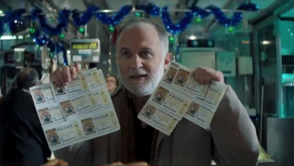 Luis Bermejo en el anuncio de Lotería de Navidad de 2018