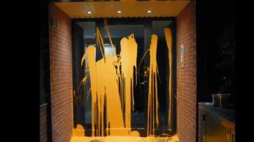 Pintadas de Arran en el domicilio de Pablo Llarena