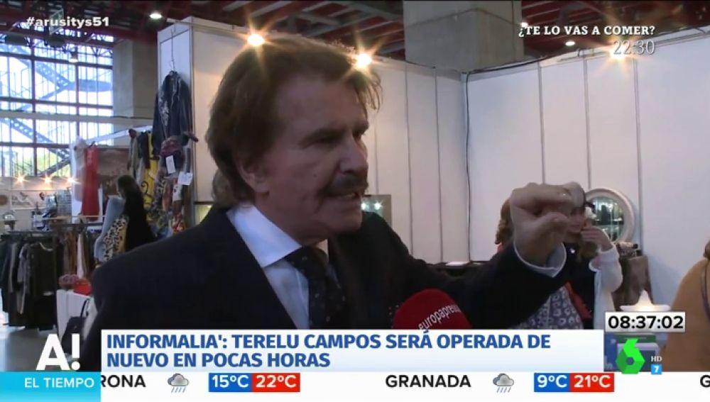 Bigote Arrocet lanza un mensaje de tranquilidad sobre la operación de Terelu Campos
