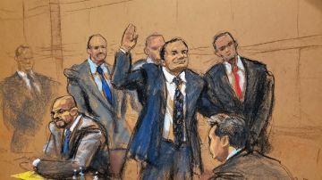 Reproducción fotográfica del juicio de 'El Chapo' Guzmán