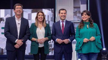 Debate entre PP, PSOE, C's y Adelante Andalucía.