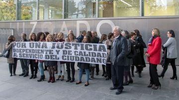 Los jueces y fiscales de Castilla-La Mancha se han concentrado en las diferentes provincias