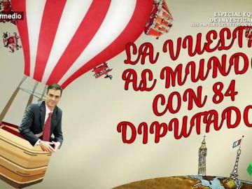 """Dani Mateo alucina con los viajes oficiales de Sánchez, """"el Willy Fog de la política"""": """"Ha estado en más sitios que 'La Gozadera'"""""""