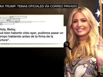 Ivanka Trump usa su cuenta personal para mandar correos sobre asuntos oficiales a miembros del gobierno