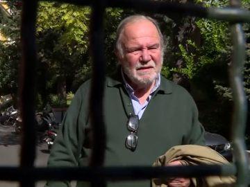 Juan Chicharro, presidente de la Fundación Franco, a las puertas de la sede
