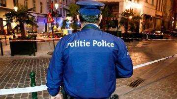 Imagen de archivo de un policía belga