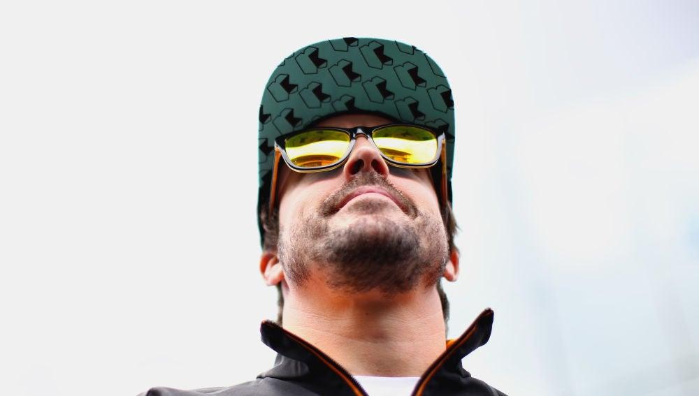 Fernando Alonso, durante el GP de Brasil