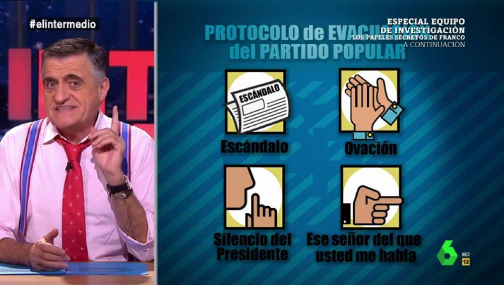 """Así es el """"protocolo de evacuación del Partido Popular"""": """"Cosidó, vaya actualizando el currículum"""""""