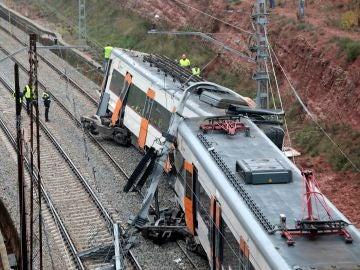 Tren accidentado en Vacarisses, Barcelona