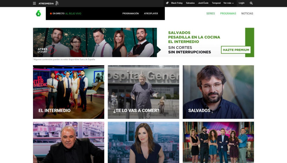Las portada de programas de laSexta.com