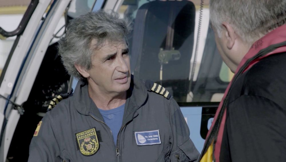 Javier, piloto en el Estrecho