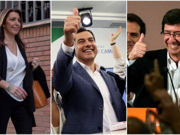 Los candidatos a presidir la Junta de Andalucía