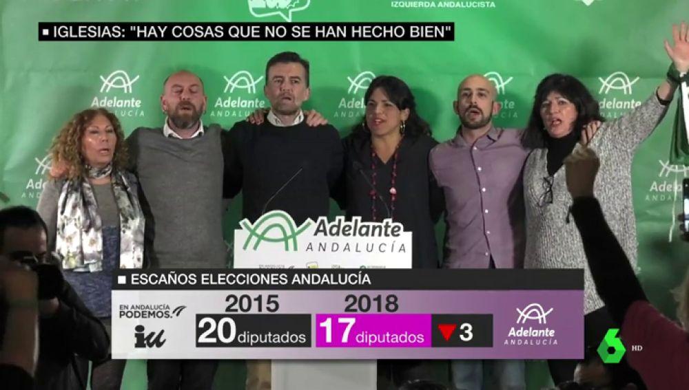 """Adelante Andalucía se convierte en la cuarta fuerza de la comunidad: """"Es obvio que no hemos conseguido el objetivo"""""""