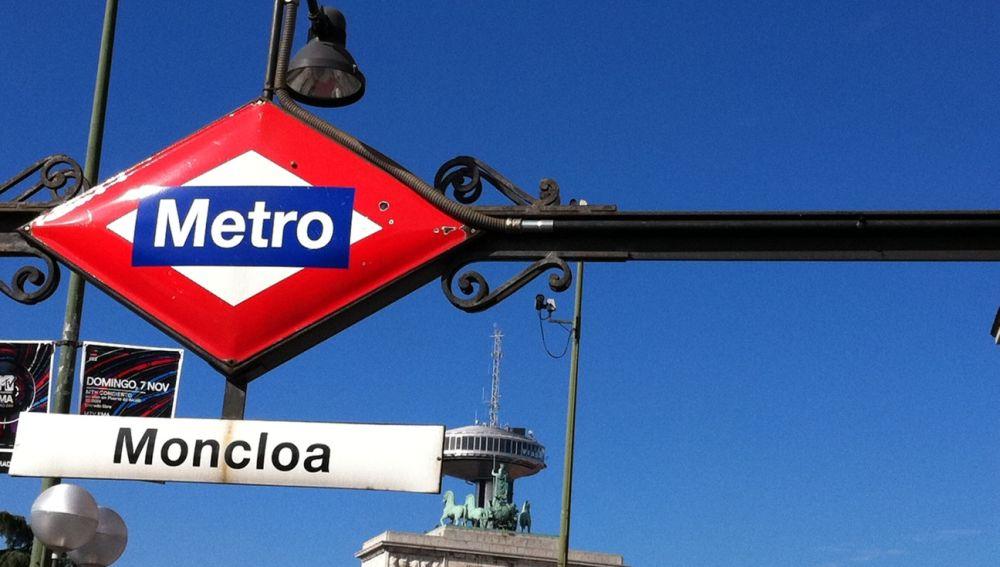 Exterior de la estación del metro de Moncloa