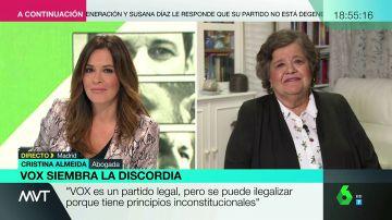 "Cristina Almeida, sobre el discurso de Vox: ""Si echan a los migrantes, ¿quién va recoger la fruta de los invernaderos?"""