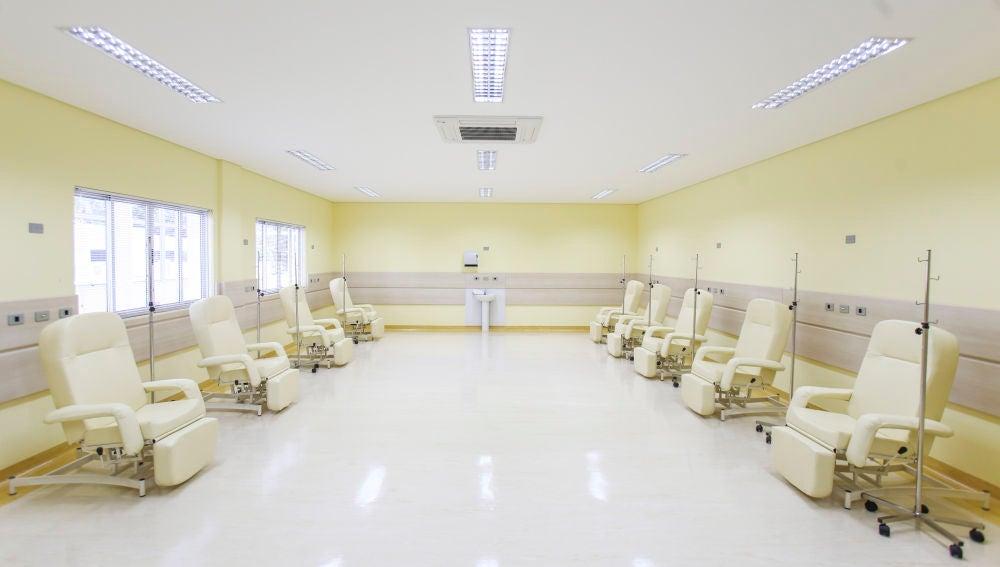 Sala de quimioterapia de un hospital