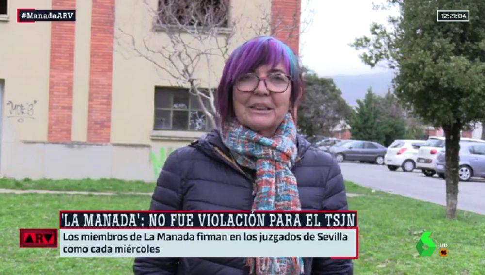 Tere Sáez, representante del colectivo Lunes Lilas