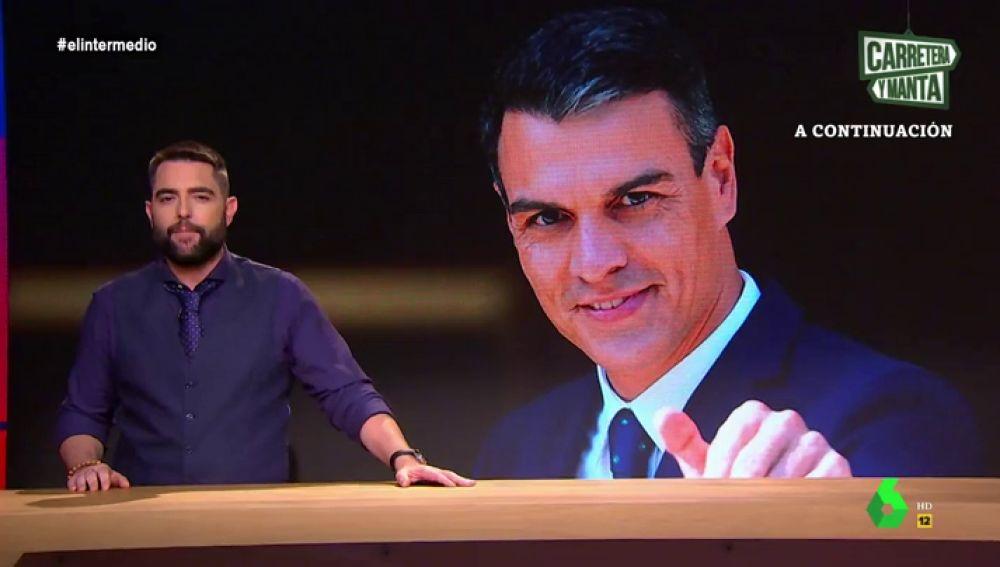"""Dani Mateo resuelve el misterio que tiene en vilo a toda España: """"¿Quién es realmente Pedro Sánchez?"""""""