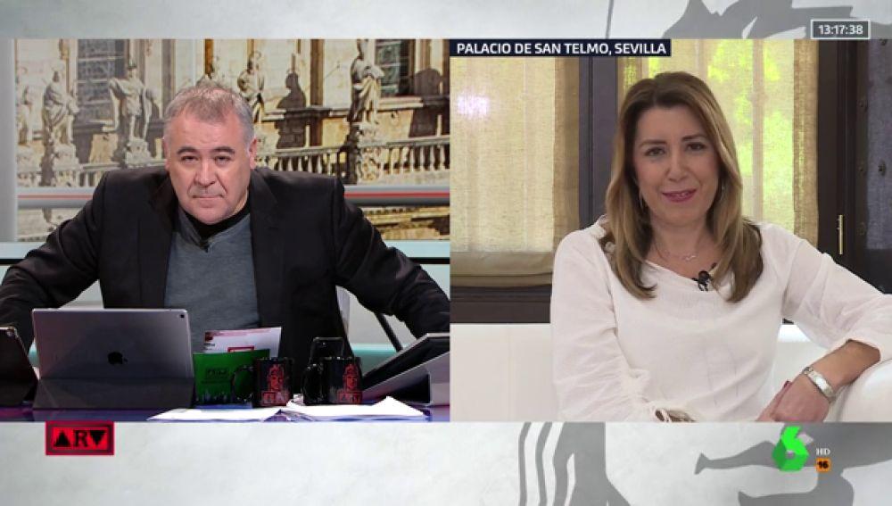 La candidata del PSOE a la Junta de Andalucía, Susana Díaz