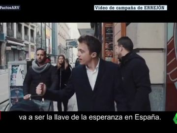 "Errejón publica un vídeo en el que llama a ""coser España"""
