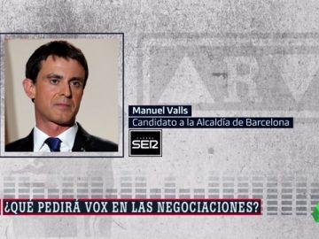 """Manuel Valls advierte a Ciudadanos: """"No puede haber ningún pacto con Vox"""""""